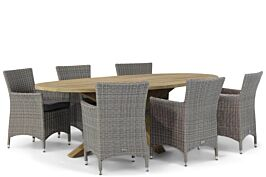 Garden Collections Dublin/Boston 240 cm dining tuinset 7-delig