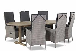Domani Fontana/Brighton ovaal 240x120 cm dining tuinset 7-delig