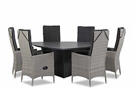 Domani Fontana/Graniet triangel 170 cm dining tuinset 7-delig