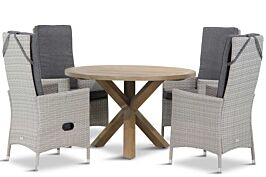 Domani Fontana/Sand City rond 120 cm dining tuinset 5-delig