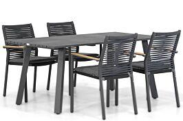 Santika Giovane/Villagio 170 cm dining tuinset 5-delig