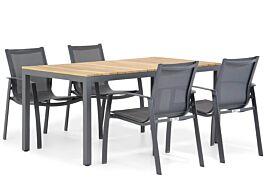 Lifestyle Gregorio/Mazzarino 160 cm dining tuinset 5-delig
