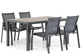 Lifestyle Gregorio/Young 155 cm dining tuinset 5-delig