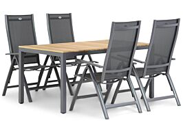 Hartman Royal Club/Mazzarino 160 cm dining tuinset 5-delig