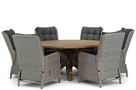 Garden Collections Kingston/Sand City 160 cm rond dining tuinset 7-delig