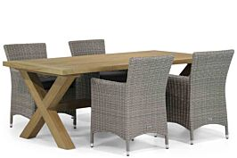 Garden Collections Dublin/Oregon 200 cm dining tuinset 5-delig