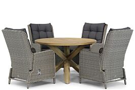 Garden Collections Kingston/Sand City 120 cm rond dining tuinset 5-delig