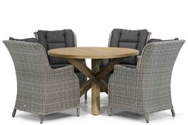 Garden Collections Aberdeen/Sand City 120 cm rond dining tuinset 5-delig