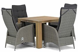 Garden Collections Lincoln/Brighton 100 cm dining tuinset 5-delig