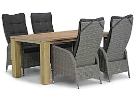 Garden Collections Lincoln/Brighton 165 cm dining tuinset 5-delig