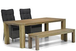 Garden Collections Lincoln/Brighton 200 cm dining tuinset 4-delig