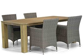 Garden Collections Dublin/Brighton 200 cm dining tuinset 5-delig