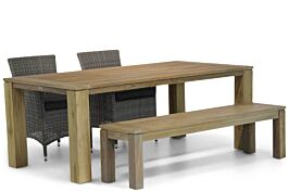 Garden Collections Dublin/Brighton 200 cm dining tuinset 4-delig