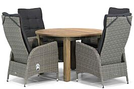 Garden Collections Lincoln/Brighton 120 cm rond dining tuinset 5-delig