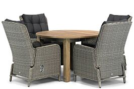 Garden Collections Kingston/Brighton 120 cm rond dining tuinset 5-delig