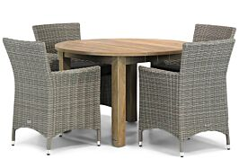 Garden Collections Dublin/Brighton 120 cm rond dining tuinset 5-delig