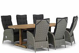 Garden Collections Lincoln/Brighton 240 cm ovaal dining tuinset 7-delig