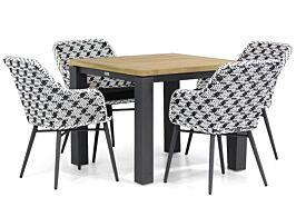 Lifestyle Crossway/Veneto 90 cm dining tuinset 5-delig