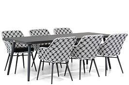 Lifestyle Crossway/Valencia 220 cm dining tuinset 7-delig