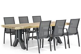 Lifestyle Ultimate/Woodside 240 cm dining tuinset 7-delig