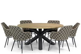 Lifestyle Crossway/Rockville 160 cm dining tuinset 7-delig
