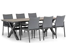 Lifestyle Rome/Forest 240 cm dining tuinset 7-delig