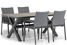 Lifestyle Rome/Forest 180 cm dining tuinset 5-delig