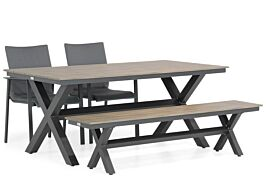 Lifestyle Rome/Forest 180 cm dining tuinset 4-delig
