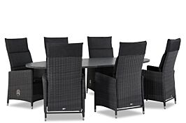 Garden Collections Madera/Graniet ovaal 240 cm dining tuinset 7-delig
