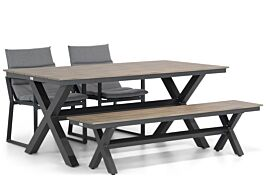 Lifestyle Treviso/Forest 180 cm dining tuinset 4-delig