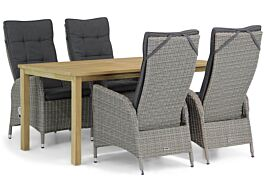 Garden Collections Lincoln/Weston 160 cm dining tuinset 5-delig