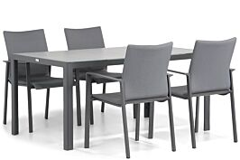 Lifestyle Rome/Varano 160 cm dining tuinset 5-delig