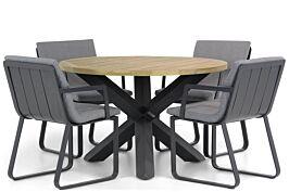 Lifestyle Estancia/Rockville 120 cm rond dining tuinset 5-delig
