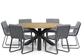 Lifestyle Estancia/Rockville 160 cm rond dining tuinset 7-delig