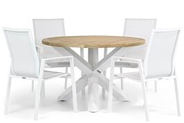 Lifestyle Ultimate/Wellington 120 cm rond dining tuinset 5-delig