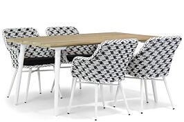 Lifestyle Crossway/Julia 160 cm dining tuinset 5-delig