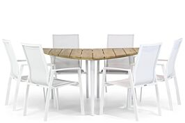 Lifestyle Ultimate/Julia 155 cm triangel dining tuinset 7-delig