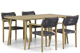 Lifestyle Dallas/Julia 160 cm dining tuinset 5-delig