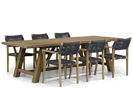 Lifestyle Dallas/Lazio 260 cm dining tuinset 7-delig