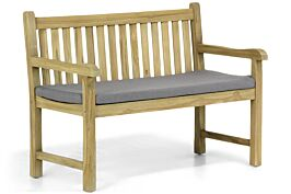 Garden Collections Preston tuinbank teak 120 cm incl. kussen antraciet