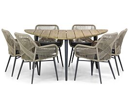 Lifestyle Advance/Julia 155 cm triangel dining tuinset 7-delig