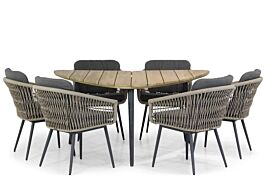 Lifestyle Western/Julia 155 cm triangel dining tuinset 7-delig