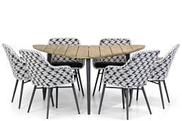 Lifestyle Crossway/Julia 155 cm triangel dining tuinset 7-delig