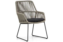 4 Seasons Outdoor Ramblas dining chair Taupe with cushion