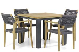 Lifestyle Dallas/Veneto 95 cm dining tuinset 5-delig