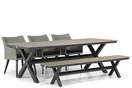 Garden Collections Milton/Forest 240 cm dining tuinset 5-delig
