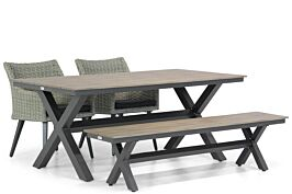 Garden Collections Milton/Forest 180 cm dining tuinset 4-delig
