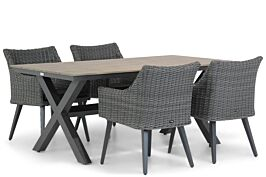 Garden Collections Milton/Forest 180 cm dining tuinset 5-delig
