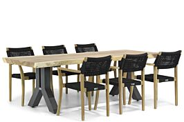 Lifestyle Dallas/Woodside 240 cm dining tuinset 7-delig