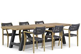 Lifestyle Dallas/Trente 260 cm dining tuinset 7-delig